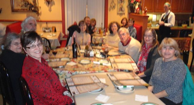 Poets gathered to share meals.