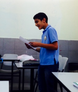 Mohammad reading a dramatic monologue